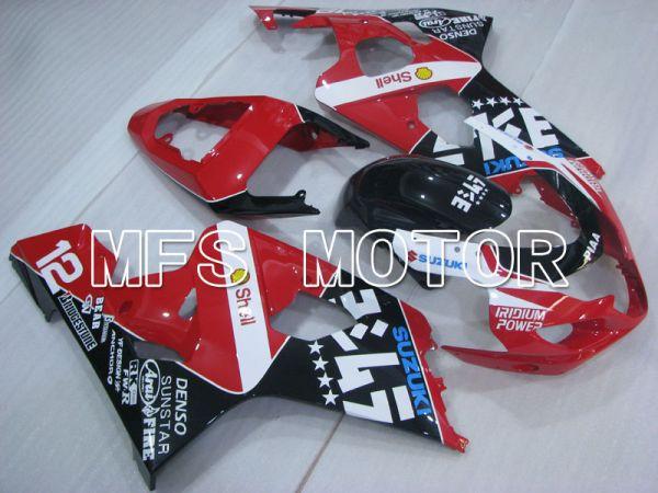 Suzuki GSXR600 GSXR750 2004-2005 Injection ABS Fairing - Shell - Black Red - MFS2297