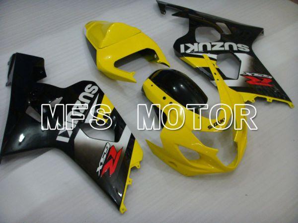 Suzuki GSXR600 GSXR750 2004-2005 Injection ABS Fairing - Factory Style - Black Yellow - MFS2315