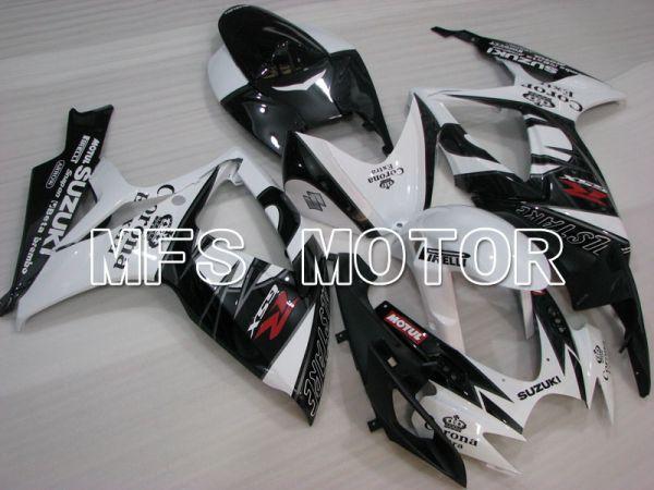 Suzuki GSXR600 GSXR750 2006-2007 Injection ABS Fairing - Corona - Black White - MFS2320
