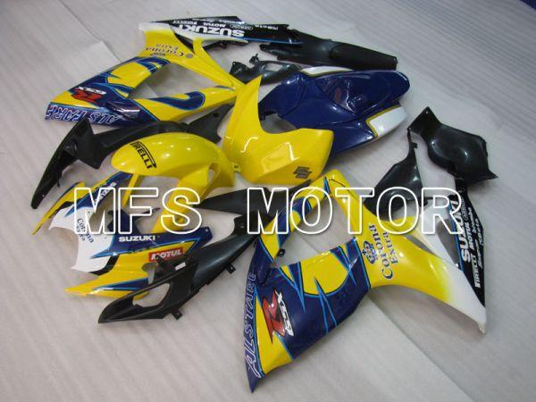 Suzuki GSXR600 GSXR750 2006-2007 Injection ABS Fairing - Corona - Blue Yellow - MFS2322