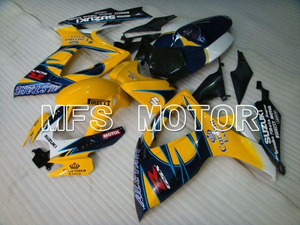 Suzuki GSXR600 GSXR750 2006-2007 Injection ABS Fairing - Corona - Blue Yellow - MFS2324
