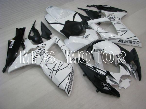 Suzuki GSXR600 GSXR750 2006-2007 Injection ABS Fairing - Corona - Black White - MFS2326