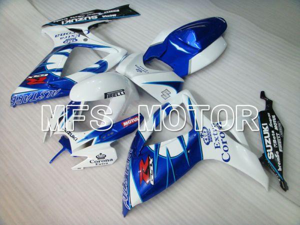 Suzuki GSXR600 GSXR750 2006-2007 Injection ABS Fairing - Corona - Blue White - MFS2329