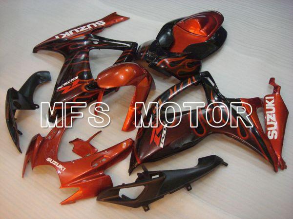 Suzuki GSXR600 GSXR750 2006-2007 Injection ABS Fairing - Flame - Black Orange - MFS2335