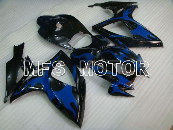 Suzuki GSXR600 GSXR750 2006-2007 Injection ABS Fairing - Factory Style - Black Blue - MFS2336