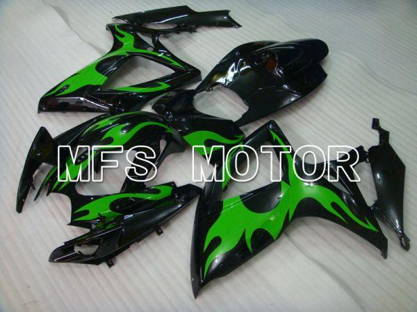 Suzuki GSXR600 GSXR750 2006-2007 Injection ABS Fairing - Factory Style - Black Green - MFS2337