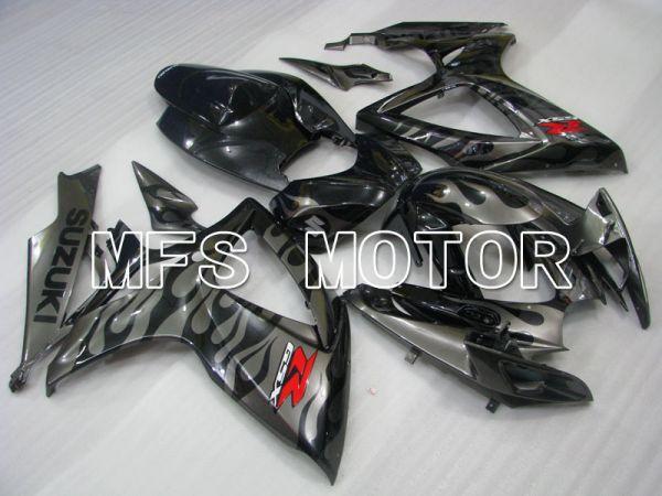 Suzuki GSXR600 GSXR750 2006-2007 Injection ABS Fairing - Factory Style - Black Gray - MFS2339