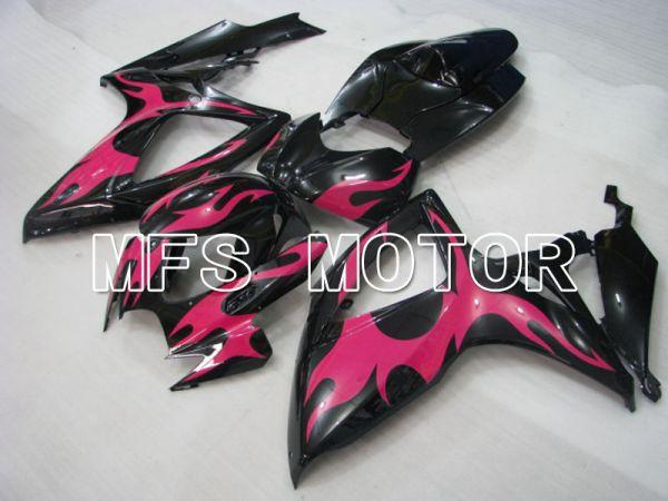 Suzuki GSXR600 GSXR750 2006-2007 Injection ABS Fairing - Factory Style - Black Pink - MFS2340