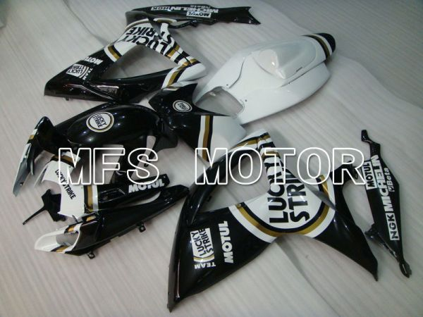 Suzuki GSXR600 GSXR750 2006-2007 Injection ABS Fairing - Lucky Strike - Black White - MFS2349