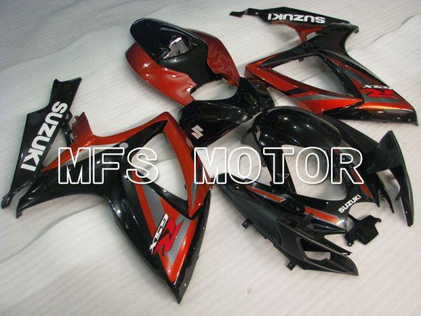 Suzuki GSXR600 GSXR750 2006-2007 Injection ABS Fairing - Factory Style - Black Red wine color - MFS2365