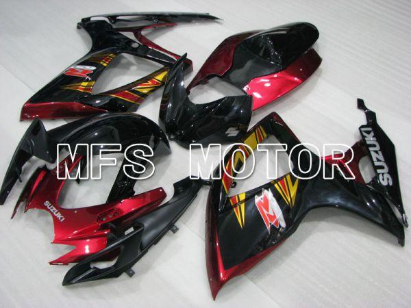 Suzuki GSXR600 GSXR750 2006-2007 Injection ABS Fairing - Factory Style - Black Red wine color - MFS2371