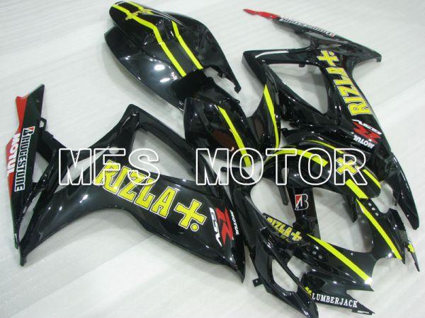 Suzuki GSXR600 GSXR750 2006-2007 Injection ABS Fairing - Rizla+ - Black - MFS2372