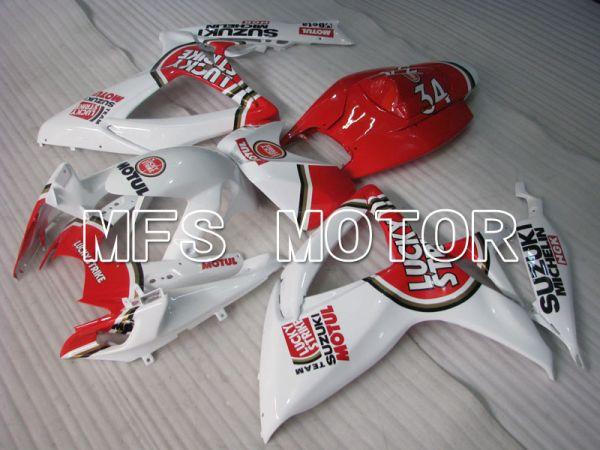 Suzuki GSXR600 GSXR750 2006-2007 Injection ABS Fairing - Lucky Strike - White Red - MFS2414