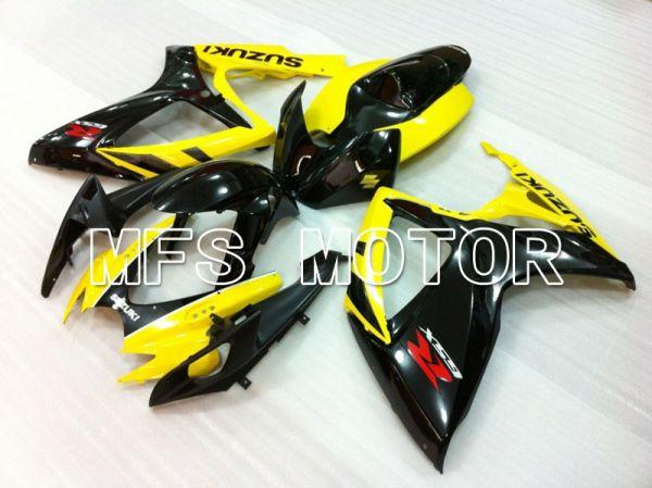 Suzuki GSXR600 GSXR750 2006-2007 Injection ABS Fairing - Factory Style - Black Yellow - MFS2415