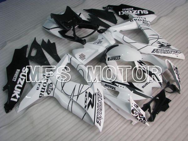 Suzuki GSXR600 GSXR750 2008-2010 Injection ABS Fairing - Corona - Black White - MFS2421