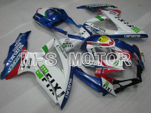 Suzuki GSXR600 GSXR750 2008-2010 Injection ABS Fairing - FIXI - Blue White - MFS2434
