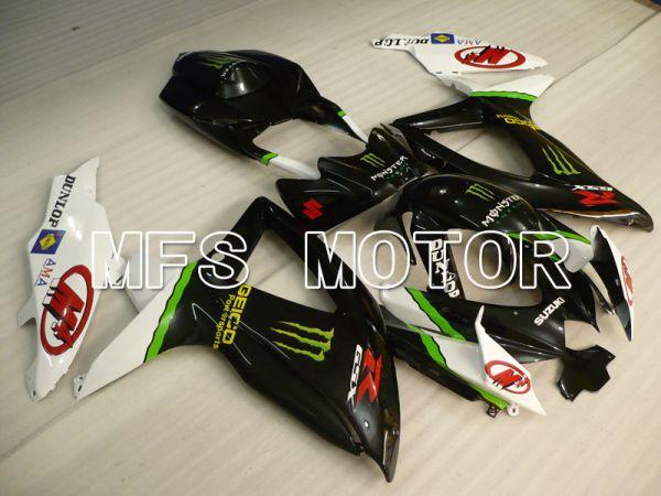 Suzuki GSXR600 GSXR750 2008-2010 Injection ABS Fairing - Monster - Black White - MFS2445