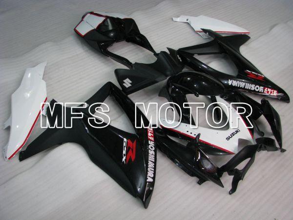 Suzuki GSXR600 GSXR750 2008-2010 Injection ABS Fairing - YOSHIMURA - Black White - MFS2452