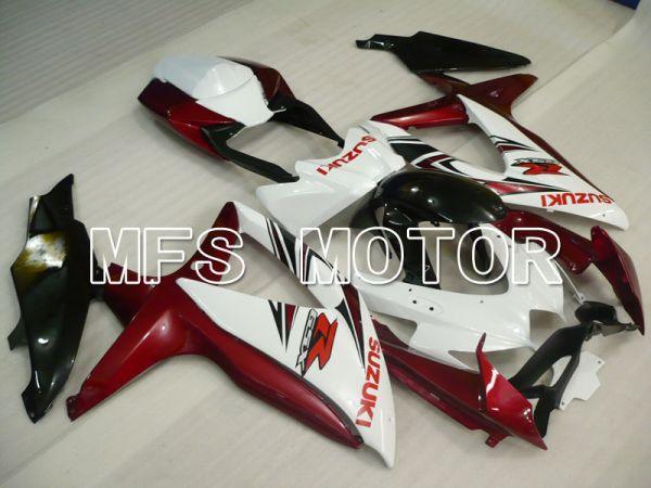 Suzuki GSXR600 GSXR750 2008-2010 Injection ABS Fairing - Factory -White Red wine color - MFS2454