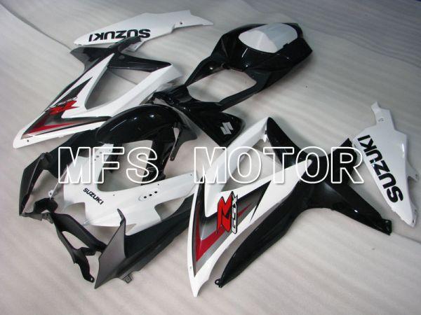 Suzuki GSXR600 GSXR750 2008-2010 Injection ABS Fairing - Factory Style - Black White - MFS2455
