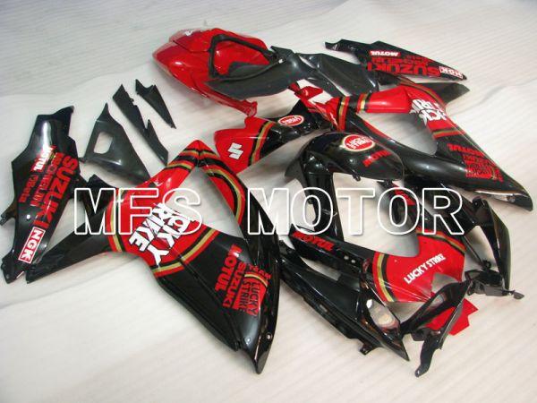 Suzuki GSXR600 GSXR750 2008-2010 Injection ABS Fairing - Lucky Strike - Red Black - MFS2470