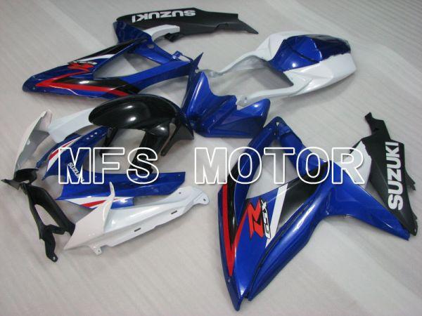 Suzuki GSXR600 GSXR750 2008-2010 Injection ABS Fairing - Factory Style - Blue White - MFS2472