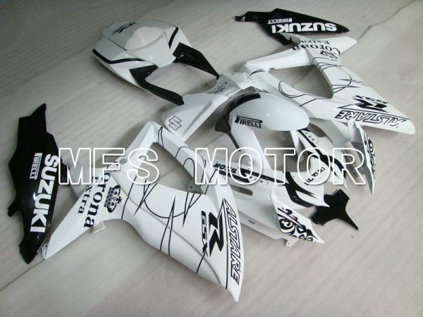Suzuki GSXR600 GSXR750 2008-2010 Injection ABS Fairing - Corona - Black White - MFS2486