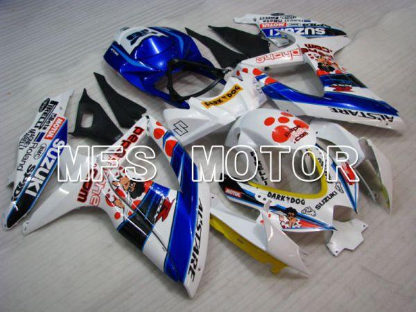 Suzuki GSXR600 GSXR750 2008-2010 Injection ABS Fairing - MOTUL - Blue White - MFS2487