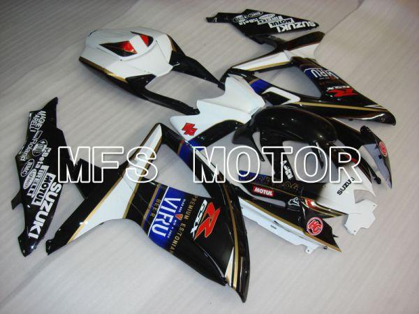 Suzuki GSXR600 GSXR750 2008-2010 Injection ABS Fairing - VIRU - Black White - MFS2491