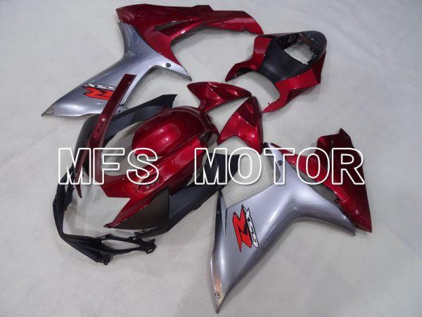 Suzuki GSXR600 GSXR750 2011-2016 Injection ABS Fairing - Factory Style - Silver Red wine color - MFS2513