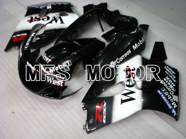 Suzuki GSXR600 1997-2000 ABS Fairing - West - Black White - MFS2535