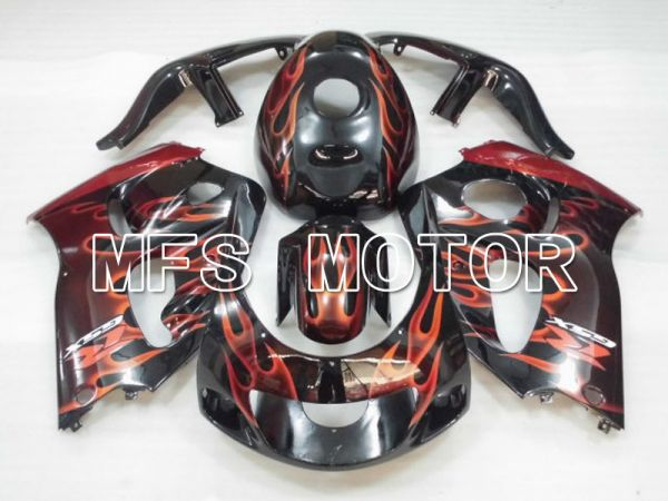Suzuki GSXR750 1996-1999 ABS Fairing - Flame - Black Orange - MFS6877