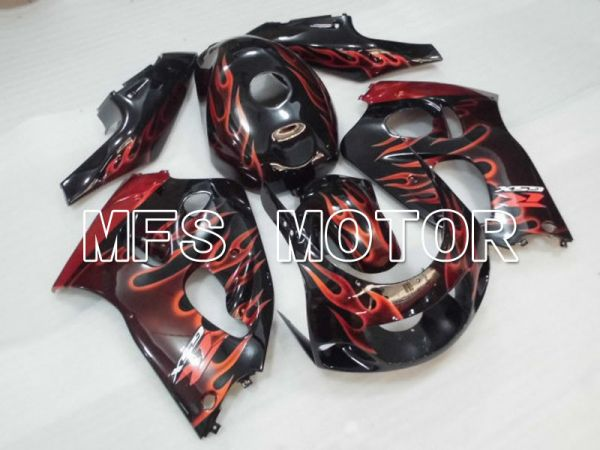 Suzuki GSXR600 1997-2000 ABS Fairing - Flame - Black Orange - MFS2560