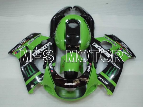 Suzuki GSXR750 1996-1999 ABS Fairing - Monster - Black Green - MFS6878