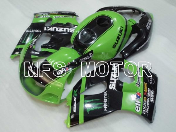 Suzuki GSXR600 1997-2000 ABS Fairing - Monster - Black Green - MFS2561