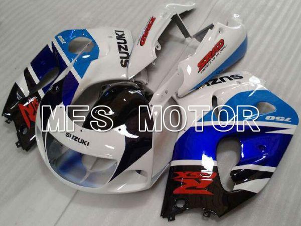 Suzuki GSXR750 1996-1999 ABS Fairing - Factory Style - Blue White - MFS6883