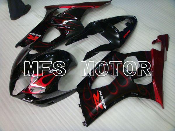 Suzuki GSXR1000 2003-2004 Injection ABS Fairing - Flame - Black Red - MFS2575