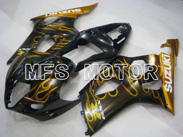 Suzuki GSXR1000 2003-2004 Injection ABS Fairing - Flame - Black Yellow - MFS2577