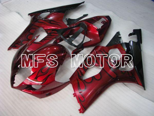 Suzuki GSXR1000 2003-2004 Injection ABS Fairing - Flame - Black Red - MFS2578
