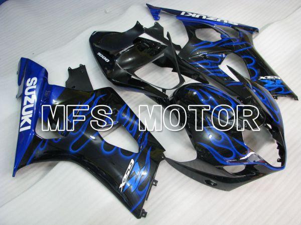 Suzuki GSXR1000 2003-2004 Injection ABS Fairing - Flame - Black Blue - MFS2579
