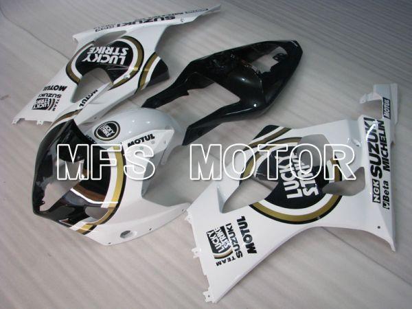 Suzuki GSXR1000 2003-2004 Injection ABS Fairing - Lucky Strike - Black White - MFS2581