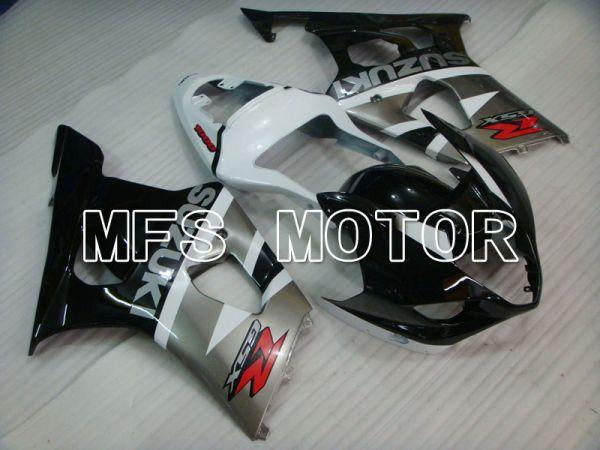 Suzuki GSXR1000 2003-2004 Injection ABS Fairing - Factory Style - Black Gray White - MFS2590