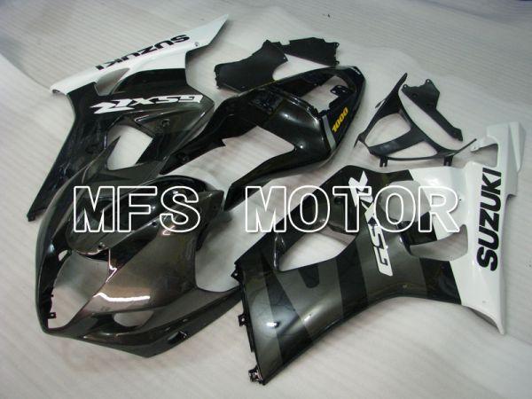Suzuki GSXR1000 2003-2004 Injection ABS Fairing - Factory Style - Black White - MFS2595