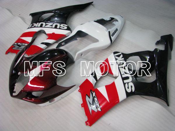 Suzuki GSXR1000 2003-2004 Injection ABS Fairing - Factory Style - Black Red White - MFS2600