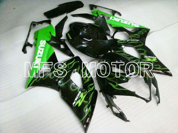 Suzuki GSXR1000 2005-2006 Injection ABS Fairing - Flame - Black Green - MFS2624