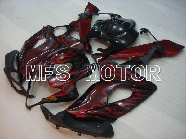 Suzuki GSXR1000 2005-2006 Injection ABS Fairing - Flame - Black Red - MFS2625