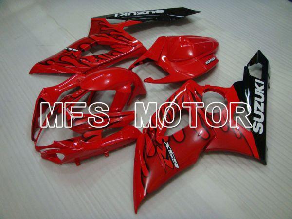 Suzuki GSXR1000 2005-2006 Injection ABS Fairing - Flame - Black Red - MFS2626
