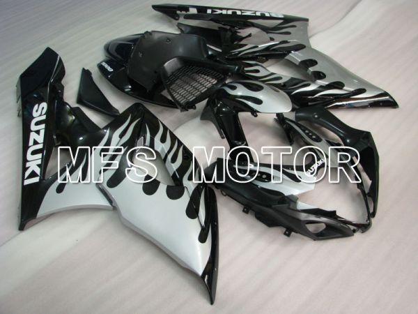 Suzuki GSXR1000 2005-2006 Injection ABS Fairing - Flame - Black Silver - MFS2627