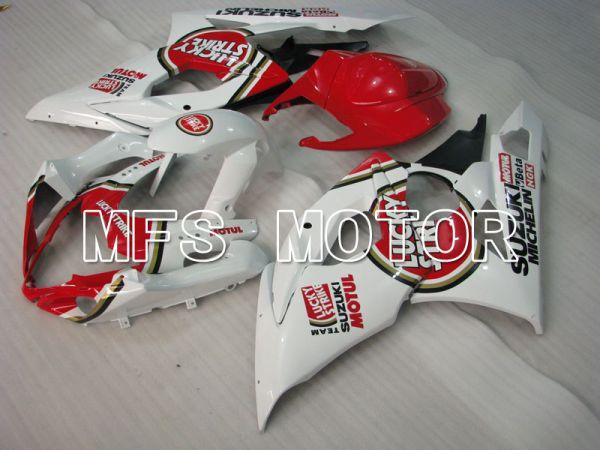 Suzuki GSXR1000 2005-2006 Injection ABS Fairing - Lucky Strike - Red White - MFS2632