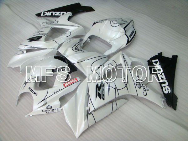 Suzuki GSXR1000 2007-2008 Injection ABS Fairing - Corona - Black White - MFS2665